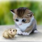 Кошки и хомяки — друзья?